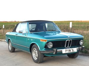 1973 BMW 2002 Baur Convertible Manual RHD