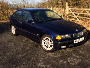 2000 BMW 316i SE Compact. Owned for 17 years. BARGAIN £595 !!! SOLD