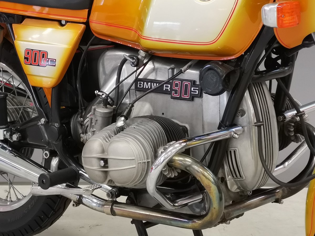 1975 BMW R 90 S Daytona Orange for sale SOLD (picture 4 of 6)