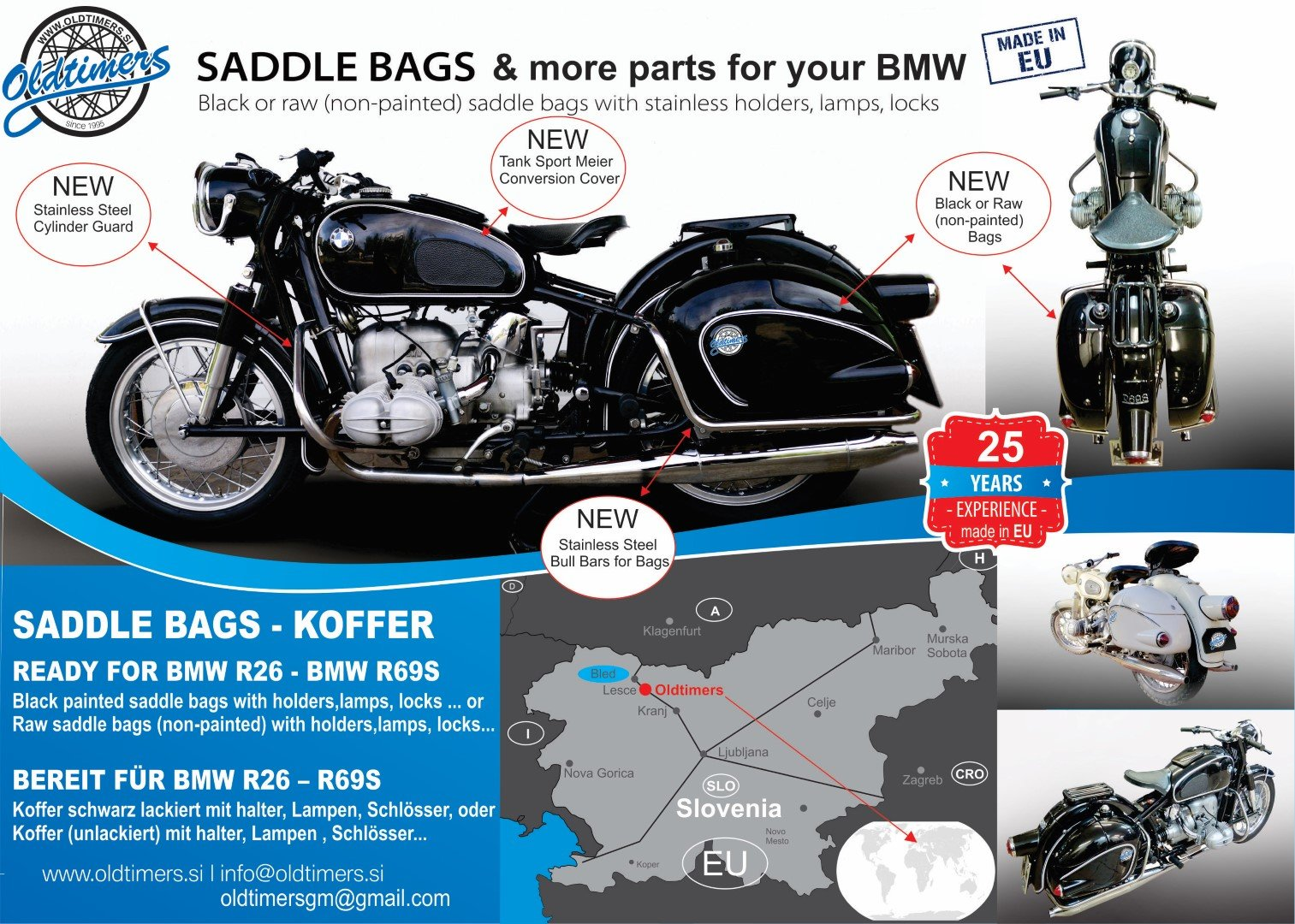 Saddle bags Koffer,Suit ready for BMW : R26 - R69S For Sale (picture 1 of 6)