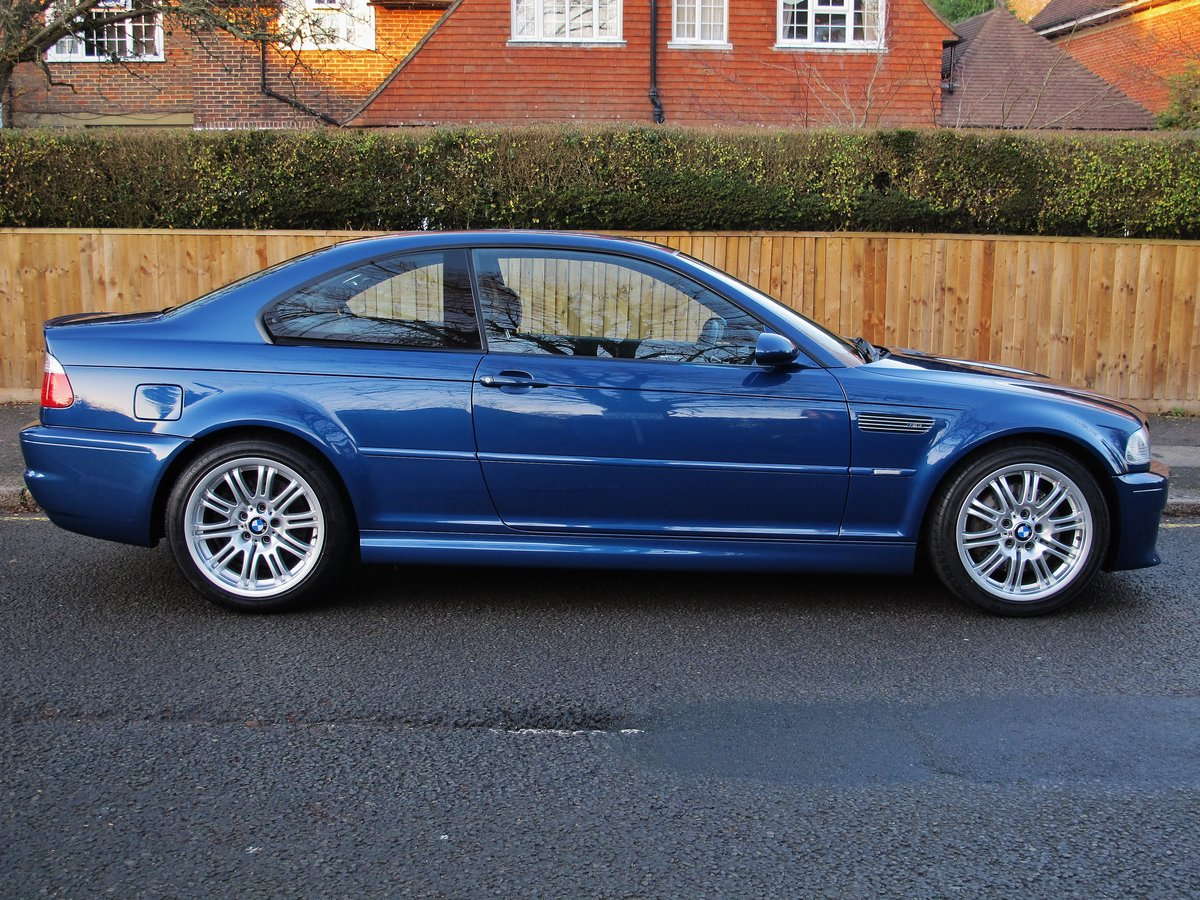 BMW M3 3.2 2002 COUPE 2 OWN 37600 FSH 10 STAMPS 'TOPAZ BLUE' For Sale (picture 2 of 6)