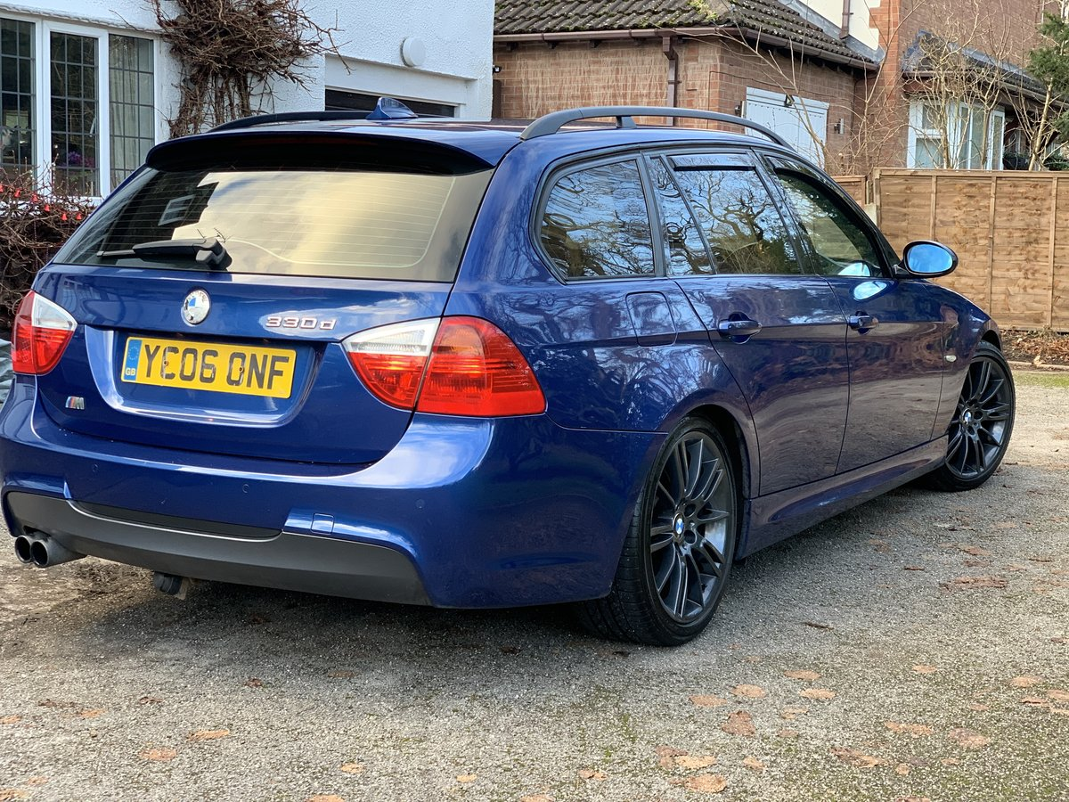 2006 Bmw 330D M sport Touring Le Mans blue For Sale (picture 1 of 6)
