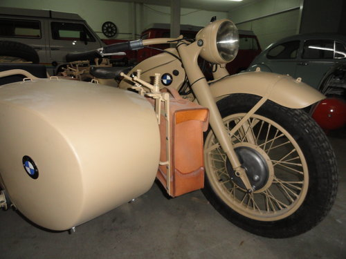 Picture of 1939 BMW R12 militar motorcycle with SIDE CAR For Sale