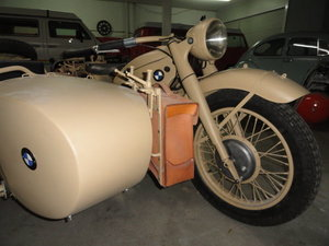 Bmw r12 militar motorcycle with side car