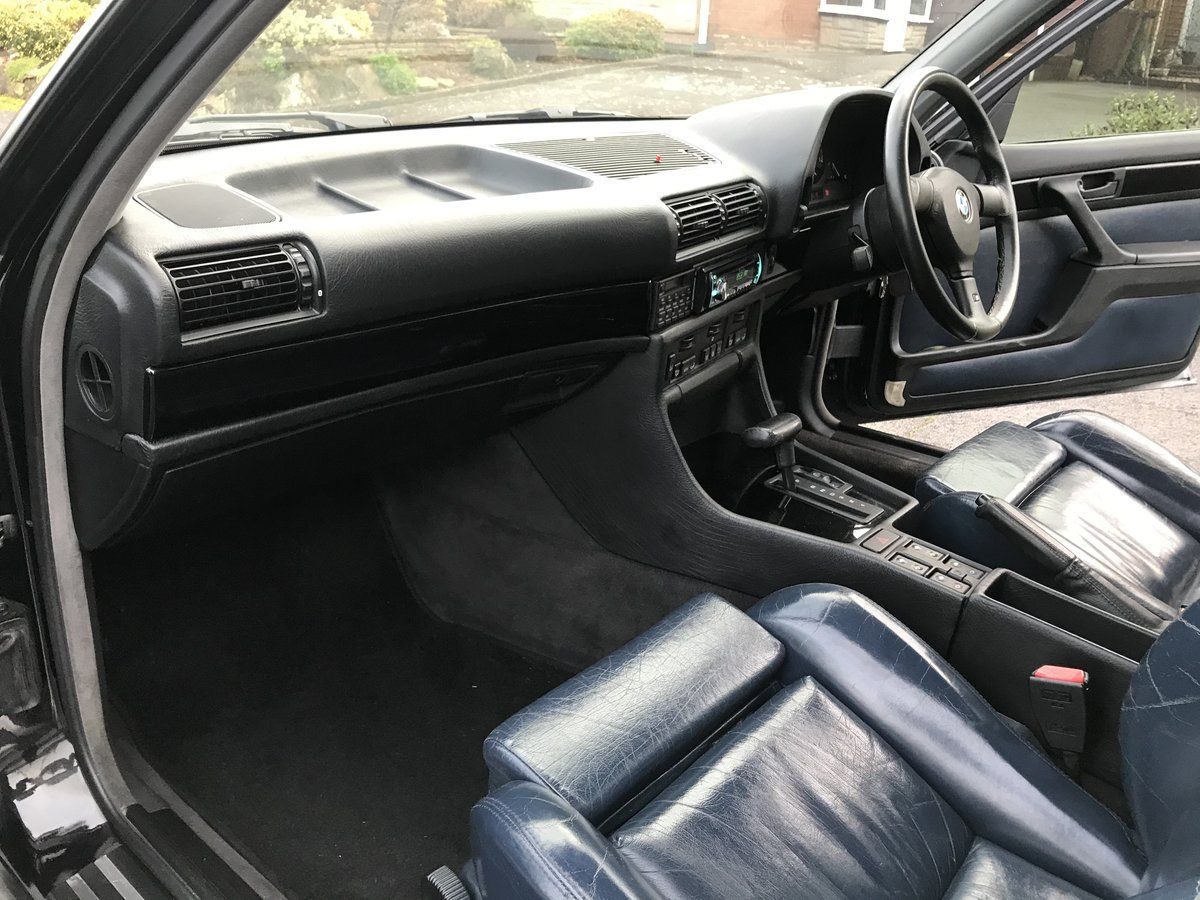 1991 Bmw e32 fully restored schwartz black 2 For Sale (picture 5 of 6)