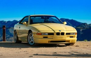 1995 BMW 850 CSi = clean and solid driver Yellow(~)Black