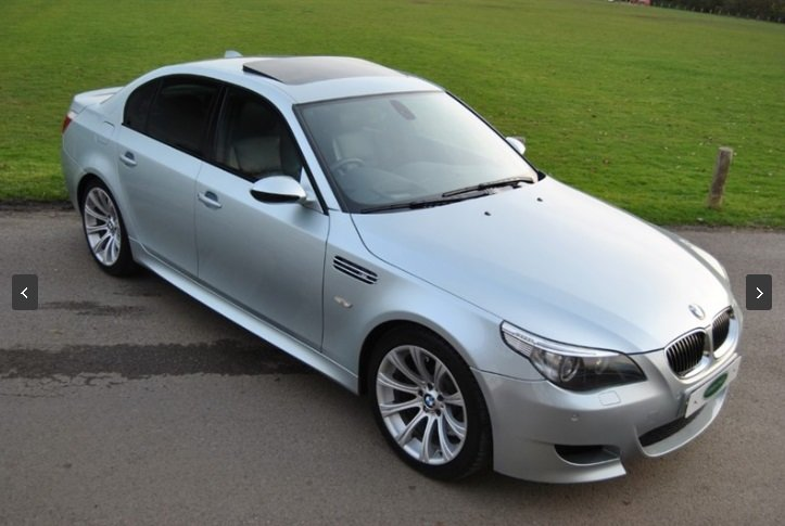2007 BMW E60 M5 V10 Saloon - SILVERSTONE II For Sale (picture 1 of 6)