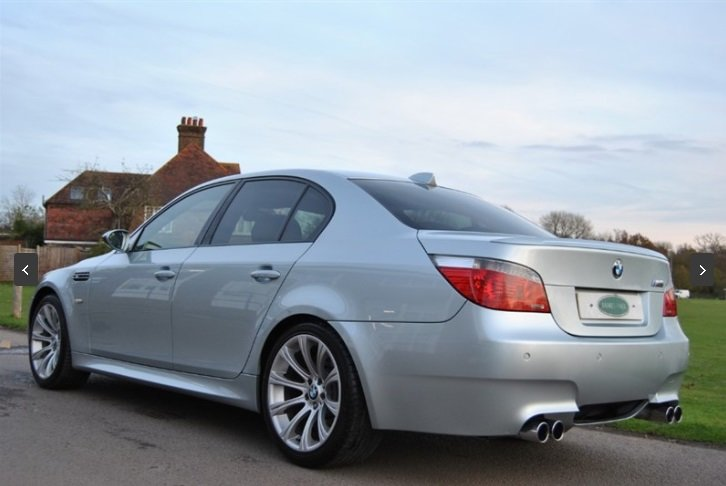 2007 BMW E60 M5 V10 Saloon - SILVERSTONE II For Sale (picture 4 of 6)
