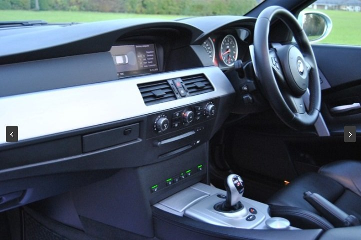 2007 BMW E60 M5 V10 Saloon - SILVERSTONE II For Sale (picture 6 of 6)