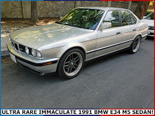 1991 BMW M5 Coupe E34 clean Silver Dry Driver  $11.9k