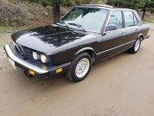 1987 BMW 528e 4 Door Sedan Automatic Black driver $4.9k