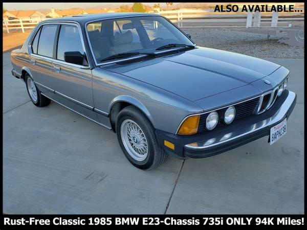 1985 BMW 735i e23 Auto Beautiful Cosmo Blue(~)Tan $7.9k  For Sale (picture 1 of 6)