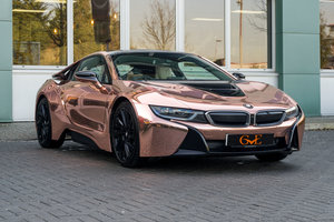 2017 BMW I8 WITH CHROM ROSE GOLD WRAP For Sale