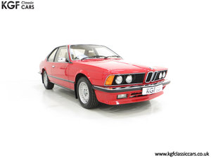 1985 A Magnificent E24 BMW 635 CSi Coupe with 23,136 Miles
