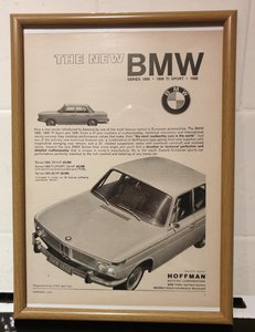 1964 BMW 1800 Framed Advert Original