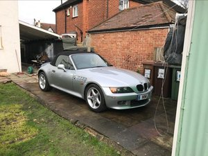 BMW Z3 2.8 litre Silver wide bodied convertible