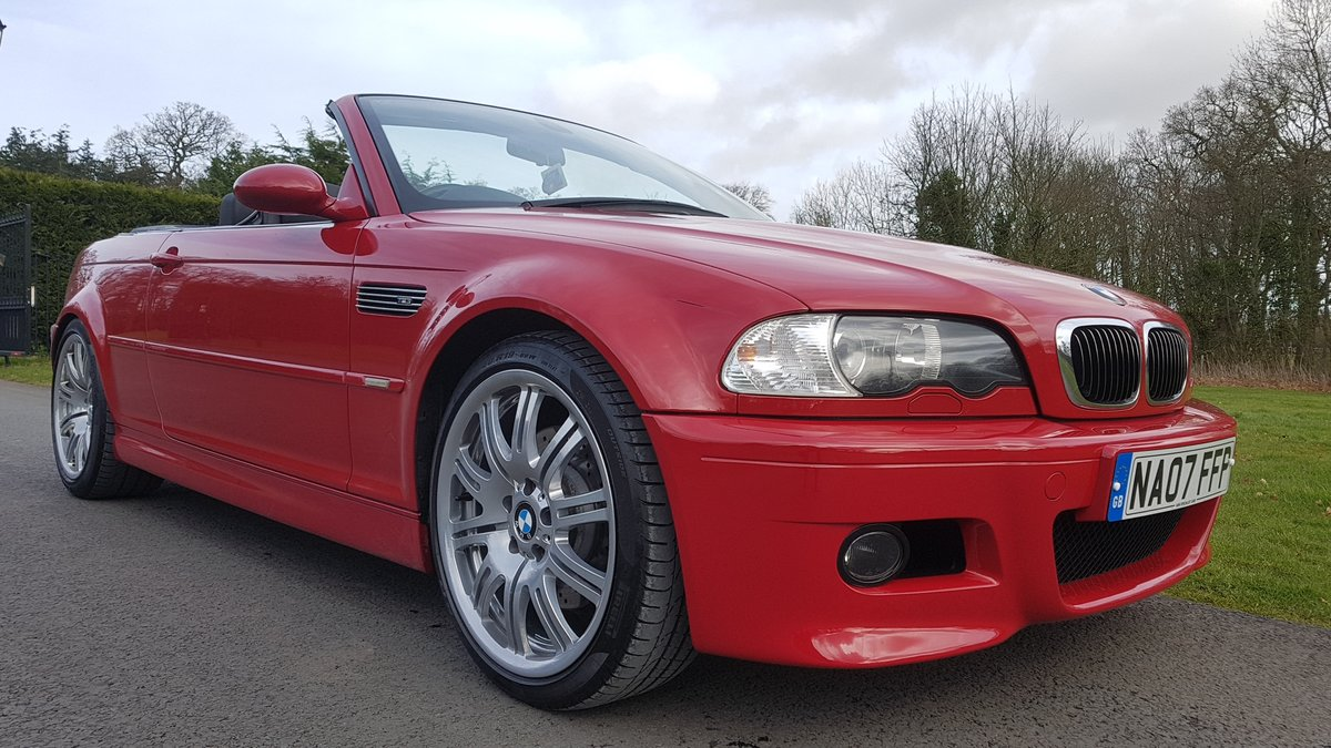 2007 07 bmw m3 3.2 convertible e46 imola red For Sale (picture 1 of 6)