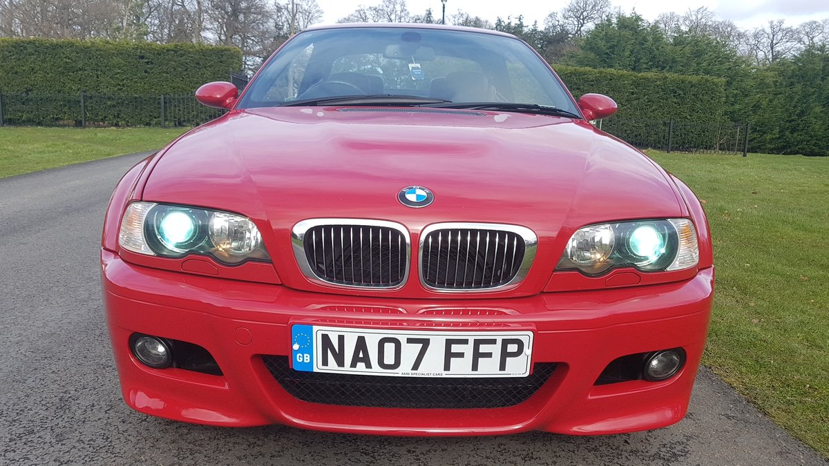 2007 07 bmw m3 3.2 convertible e46 imola red For Sale (picture 2 of 6)