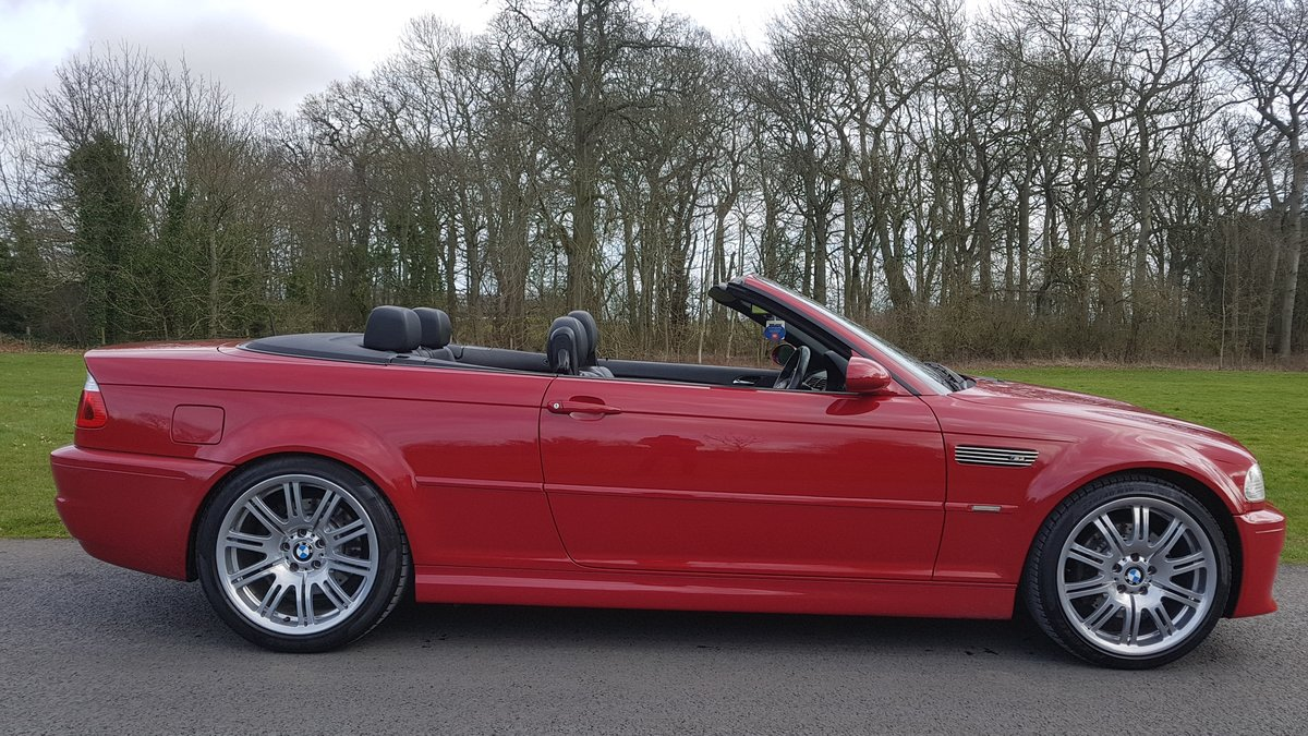 2007 07 bmw m3 3.2 convertible e46 imola red For Sale (picture 3 of 6)