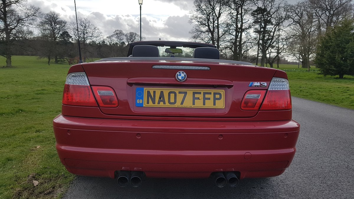 2007 07 bmw m3 3.2 convertible e46 imola red For Sale (picture 4 of 6)
