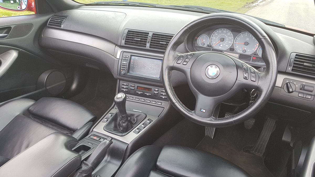 2007 07 bmw m3 3.2 convertible e46 imola red For Sale (picture 6 of 6)