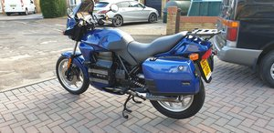 bmw k75 with just 3985 miles. Interesting history