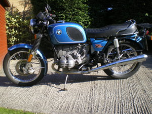 BMW R75/6 , Umolested Original bike with full Craven Luggage