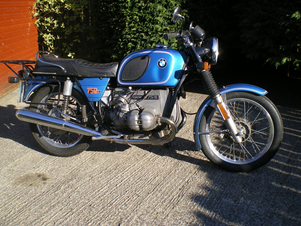 1976 BMW R75/6 , Umolested Original bike with full Craven Luggage For Sale (picture 2 of 6)