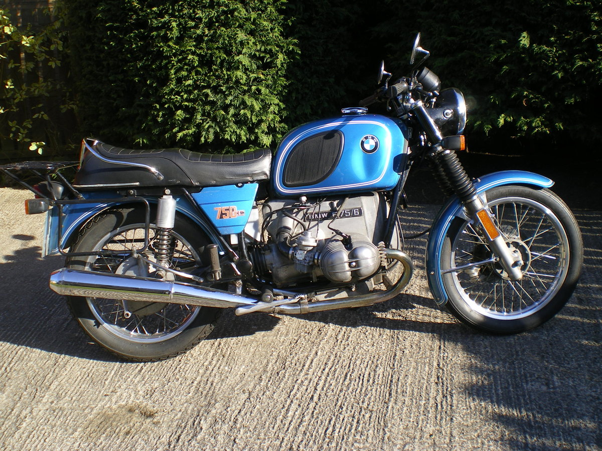 1976 BMW R75/6 , Umolested Original bike with full Craven Luggage For Sale (picture 5 of 6)