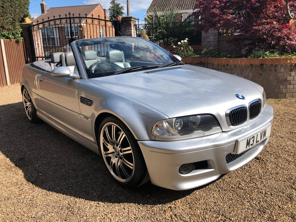 2003 BMW M3 3.2 smg convertible/sat nav/private plate For Sale (picture 1 of 6)