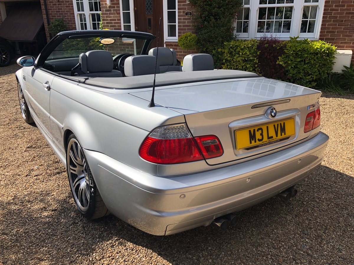 2003 BMW M3 3.2 smg convertible/sat nav/private plate For Sale (picture 3 of 6)