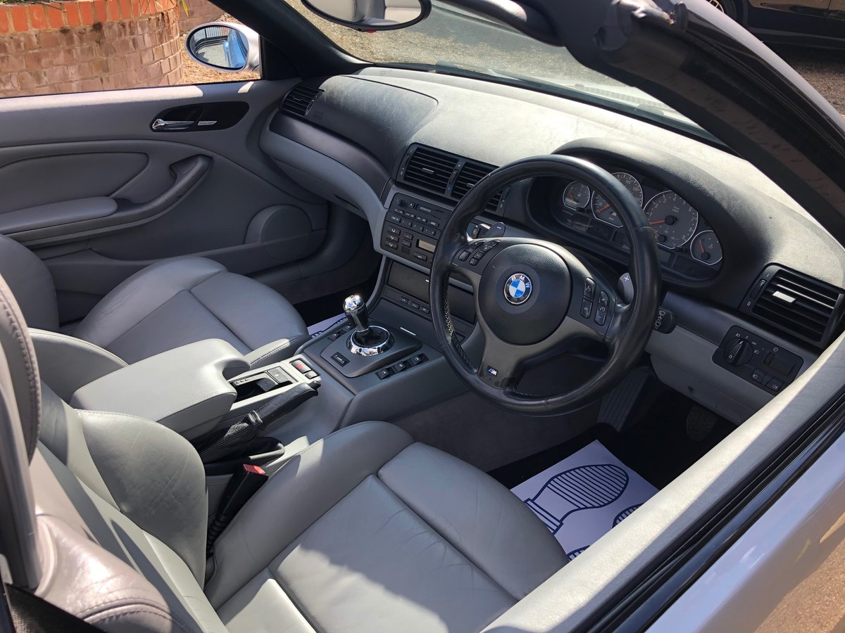 2003 BMW M3 3.2 smg convertible/sat nav/private plate For Sale (picture 2 of 6)