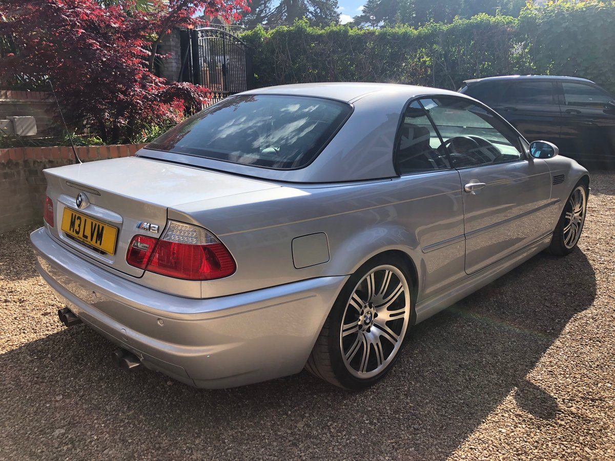 2003 BMW M3 3.2 smg convertible/sat nav/private plate For Sale (picture 4 of 6)