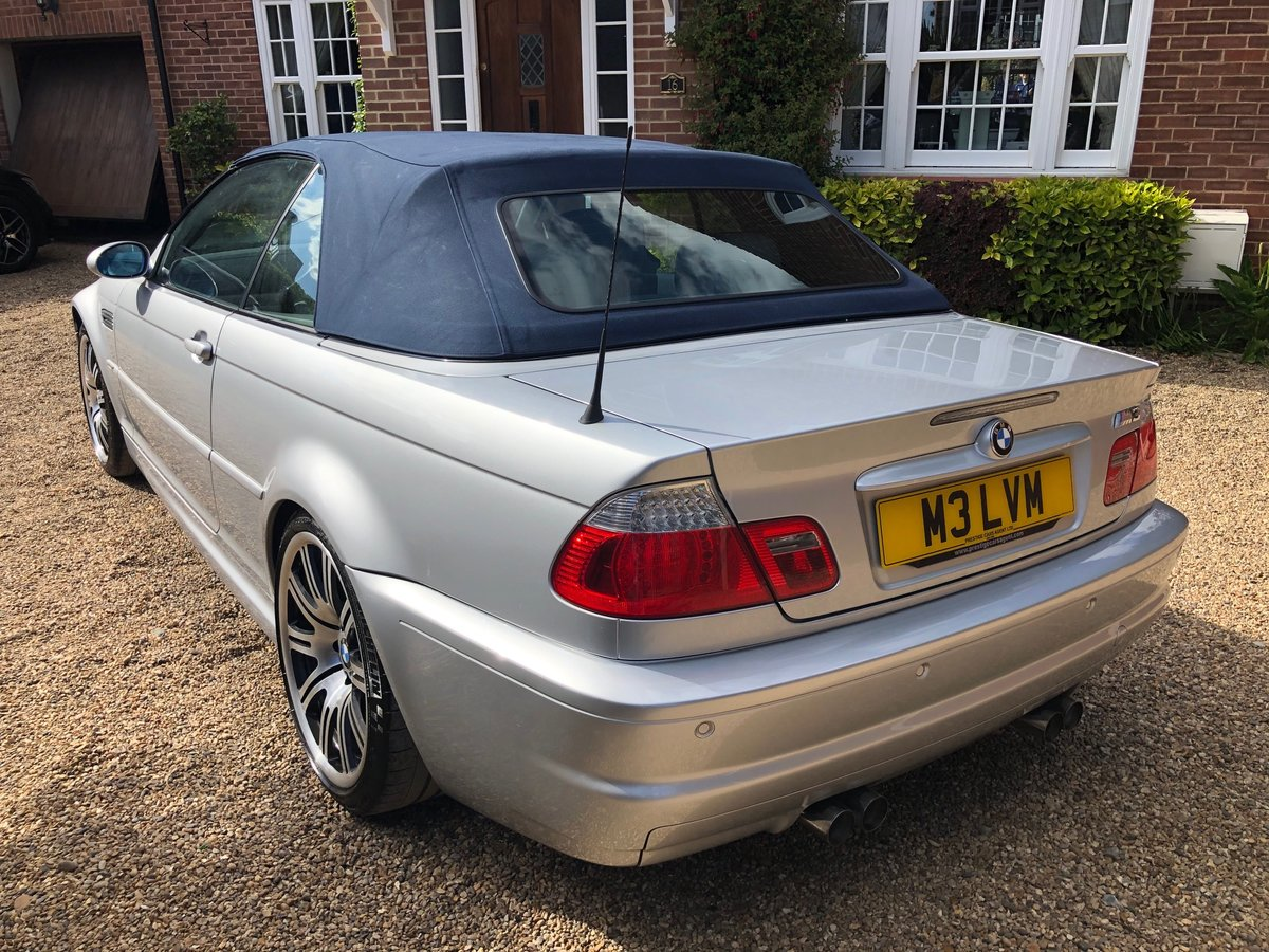 2003 BMW M3 3.2 smg convertible/sat nav/private plate For Sale (picture 6 of 6)
