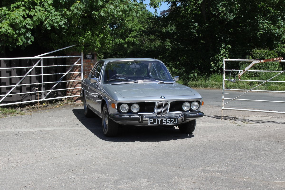 1970 BMW 2800CS Automatic, UK RHD One Family 36 Years SOLD (picture 1 of 19)