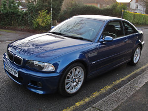 BMW M3 3.2 2002MY E46 COUPE - 2 OWNERS - 37000m FSH - TOPAZ