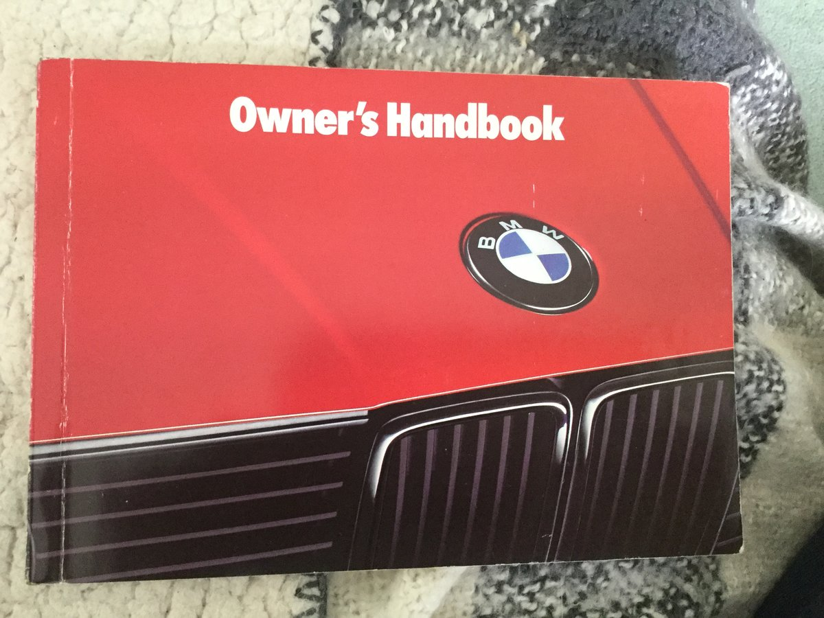 BMW 3 Series Owners manual For Sale (picture 1 of 3)