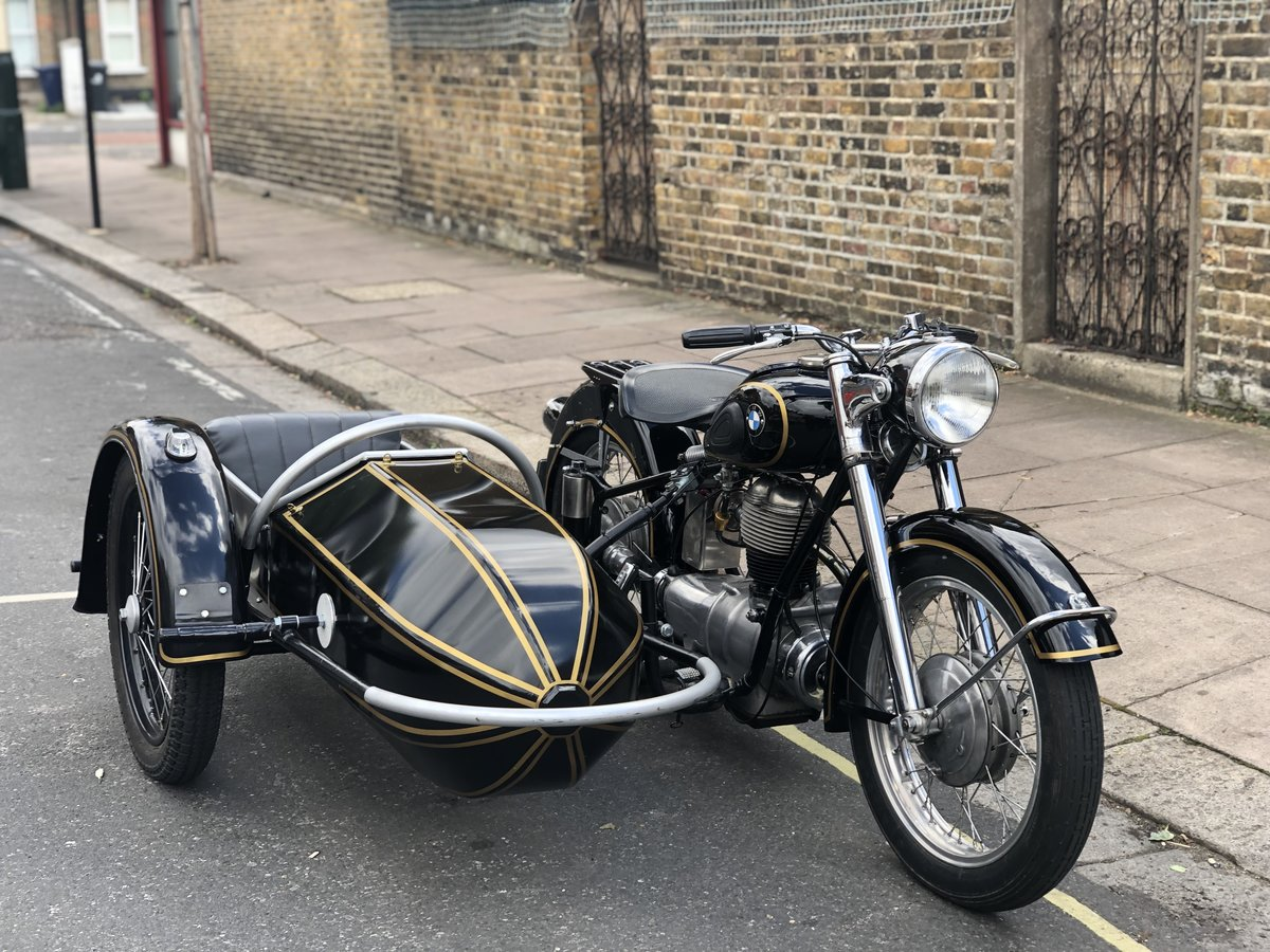 1954 BMW R25 with Sidecar  SOLD (picture 1 of 6)