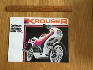 1983 Krauser BMW mum 1000 brochure  For Sale