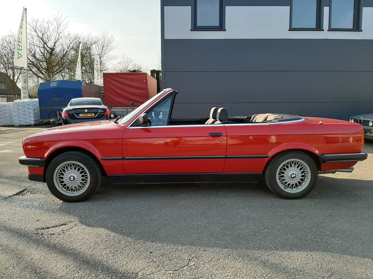 1986 BMW 325i convertible E30 red restored For Sale (picture 2 of 6)