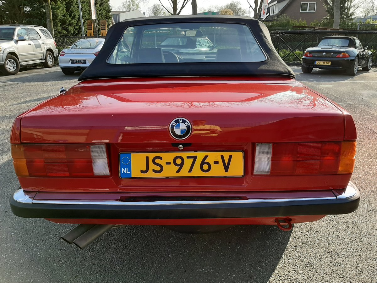 1986 BMW 325i convertible E30 red restored For Sale (picture 6 of 6)