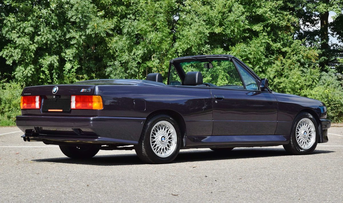1991 BMW M3 cabrio E30 macaoblauw 144000 km black leather + airco For Sale (picture 3 of 6)