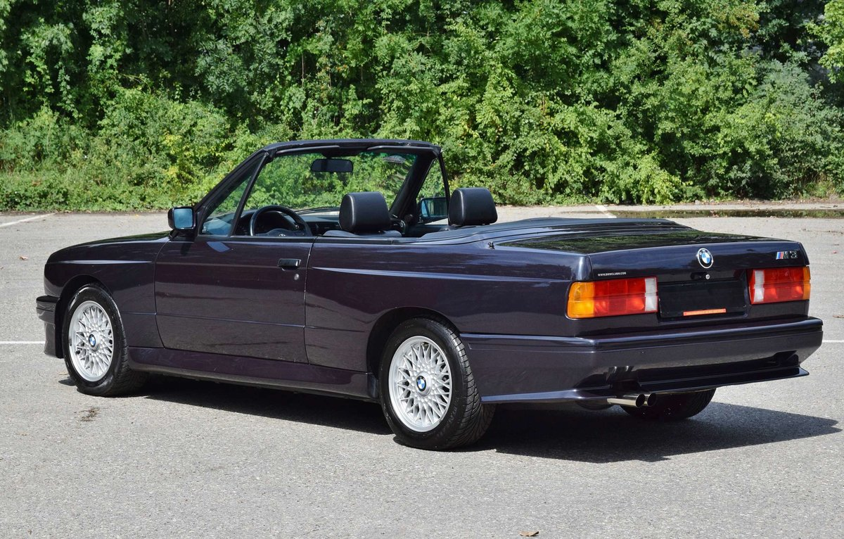 1991 BMW M3 cabrio E30 macaoblauw 144000 km black leather + airco For Sale (picture 4 of 6)
