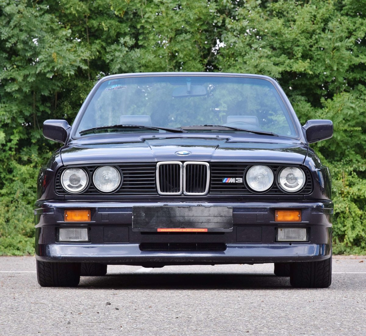 1991 BMW M3 cabrio E30 macaoblauw 144000 km black leather + airco For Sale (picture 5 of 6)