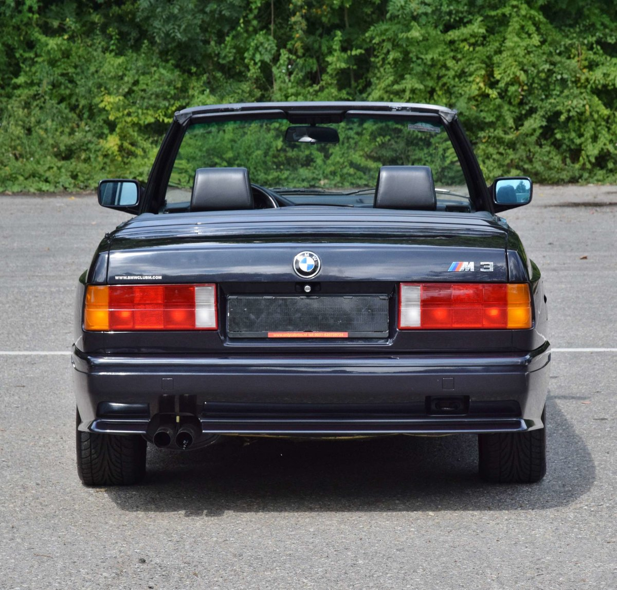 1991 BMW M3 cabrio E30 macaoblauw 144000 km black leather + airco For Sale (picture 6 of 6)