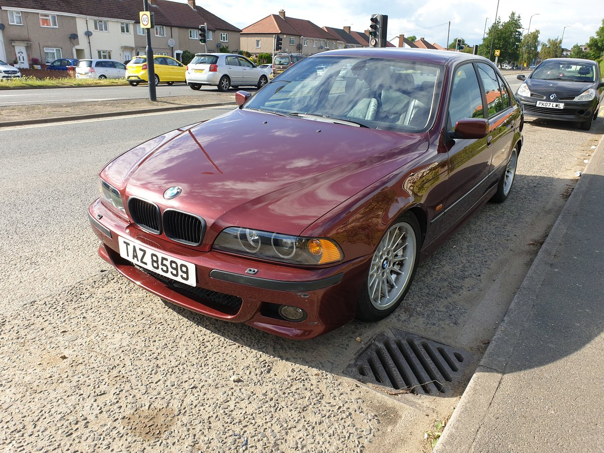 1999 BMW E39 535i V8 Manual 92k Miles Canyon Red For Sale (picture 1 of 6)