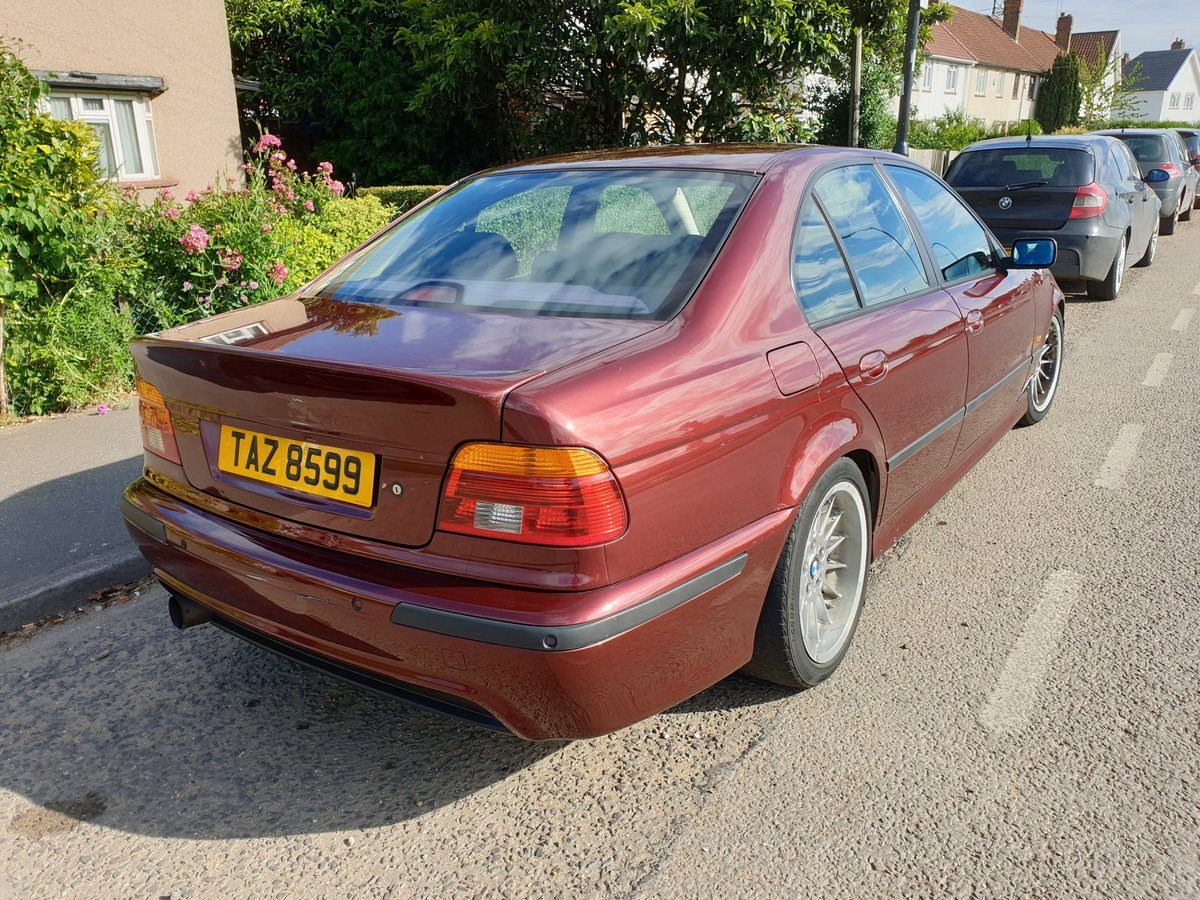 1999 BMW E39 535i V8 Manual 92k Miles Canyon Red For Sale (picture 2 of 6)