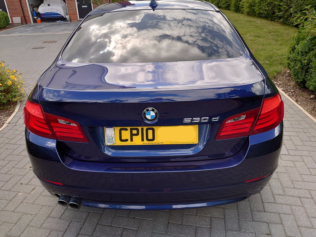 2010 BMW 530d SE + Electric pack - Deep Sea Blue For Sale (picture 2 of 6)