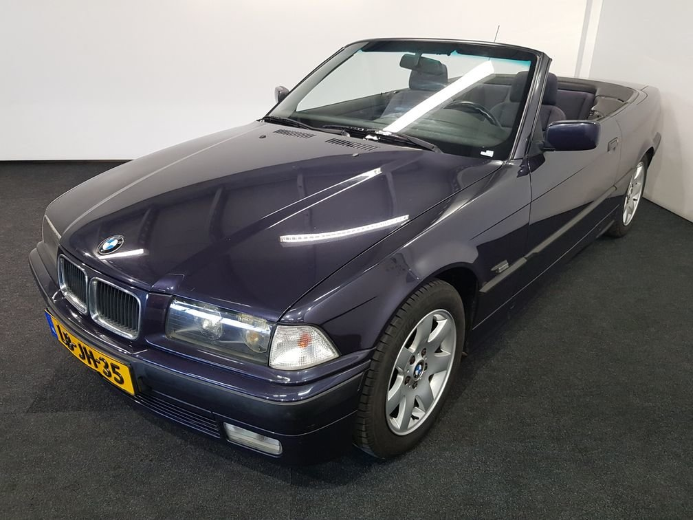 BMW 318i E36 Cabriolet 1995 madeira violet metallic paint For Sale (picture 1 of 6)