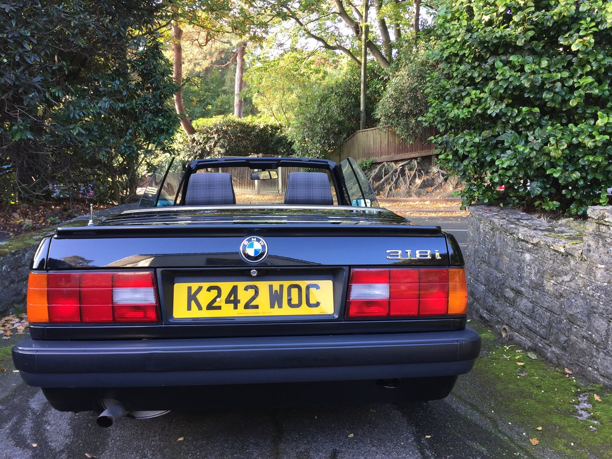 1992 BMW 3 Series E30 318i Cabriolet SOLD (picture 6 of 6)